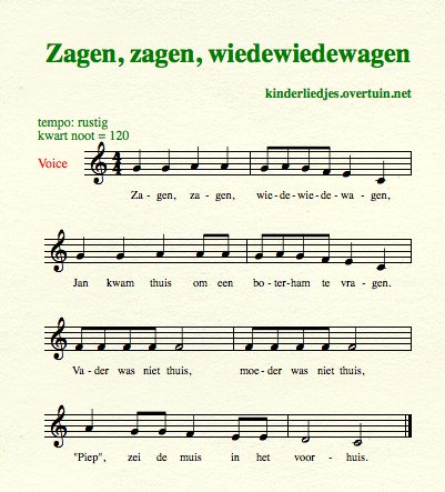 sheet music dutch children's songs translated in english sawing jan