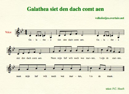 sheet music dutch folk song galathea thumb