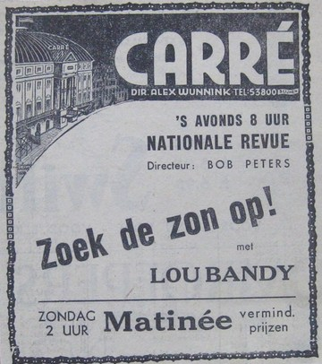 lou bandy zoek de zon op advertisement theater carre