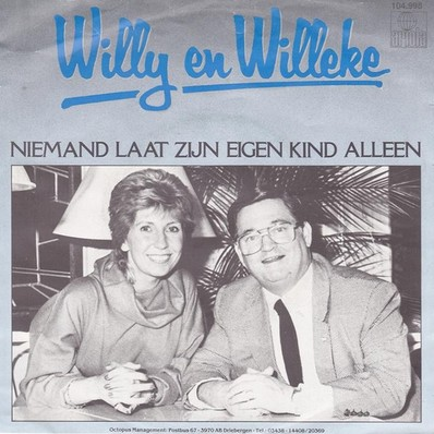 willy en willeke alberti niemand eigen kind alleen album hoes 1983