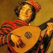 picture man with lute by frans hals dutch folk songs